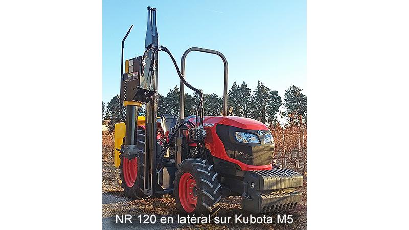 NR120 en latéral sur Kubota M5