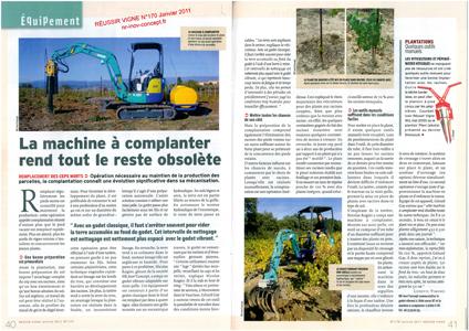 La machine à complanter de nr-inov-concept dans Réussir Vigne n°170 de janvier 2011