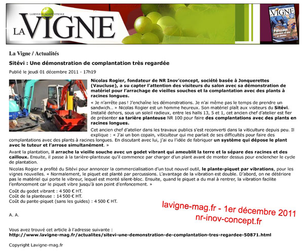 lavigne-mag.fr du 1er décembre 2011