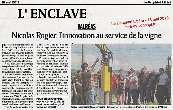Le Dauphiné Libéré - 18 mai 2013