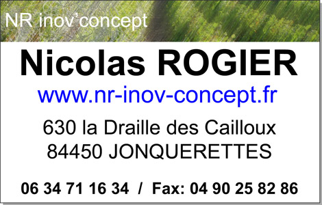 Société NR inov'concept - Nicolas ROGIER