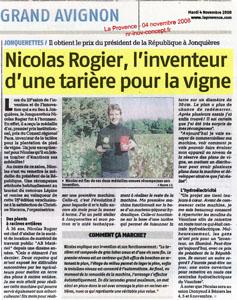 Nicolas ROGIER l'inventeur d'une tarière pour la vigne