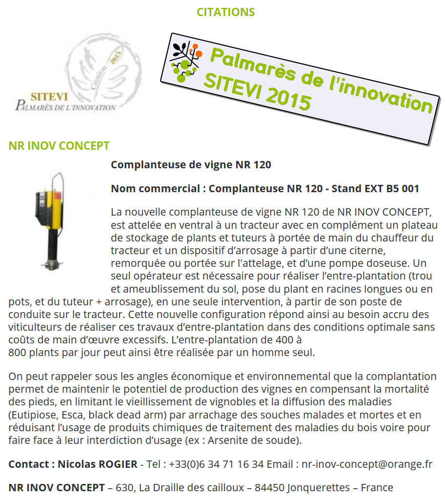 Citation Sitevi 2015