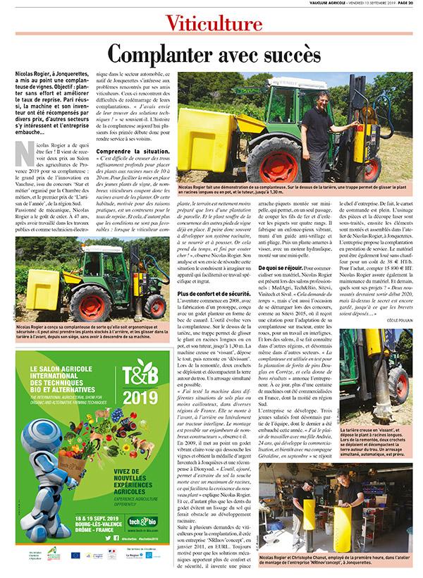 Vaucluse Agricole - 13 septembre 2019